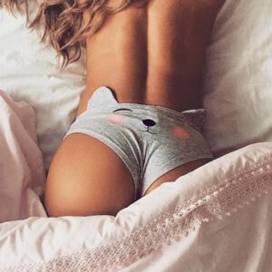 shorts women gstring Sexy Funny Lingerie Briefs Underwear pants T string Cartoon Thongs Knickers panties Bragas para mujeres#PN