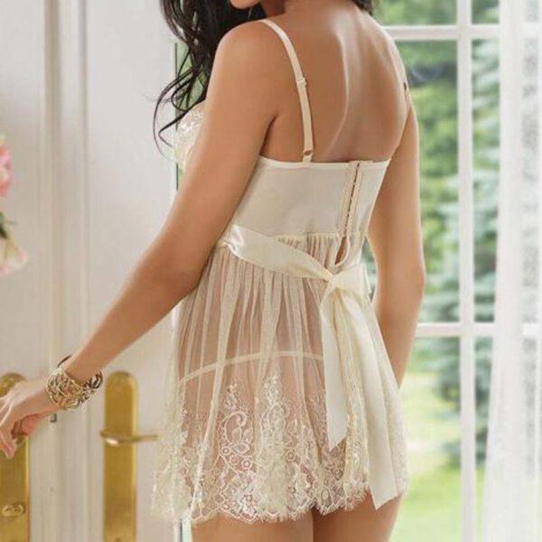 Sexy Lingerie For Women Bridal lingerie Mesh Lace Robes Underwear Hot Girl femme sexy Body doll lenceria White lingerie set 2020