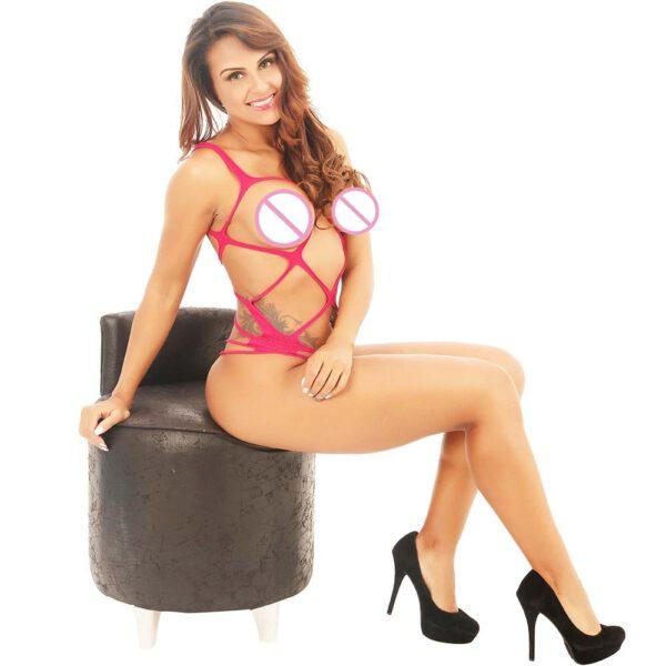 Hot Sale Women Sexy Lingerie Sleepwear Nightwear Body stocking Lace Teddy Dress Babydoll Underwear Sleevless