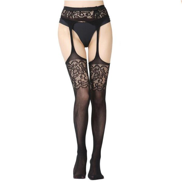 New Sexy Womens fishnet tights Plus Size Women Underwear Erotic Lingerie Lace Suspender Pantyhose Stocking эротическое белье