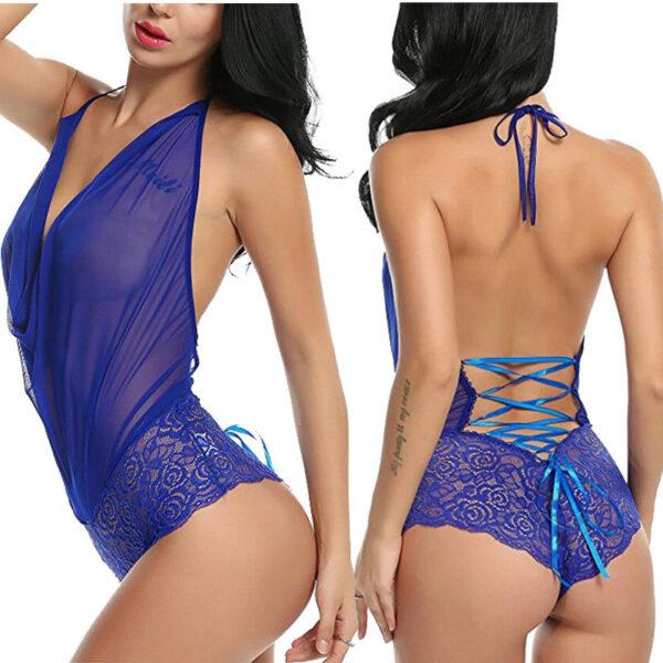 Women Sexy Lingerie Nightwear Underwear G String Lace Sling Sleepwear Teddies Bodysuits plus size