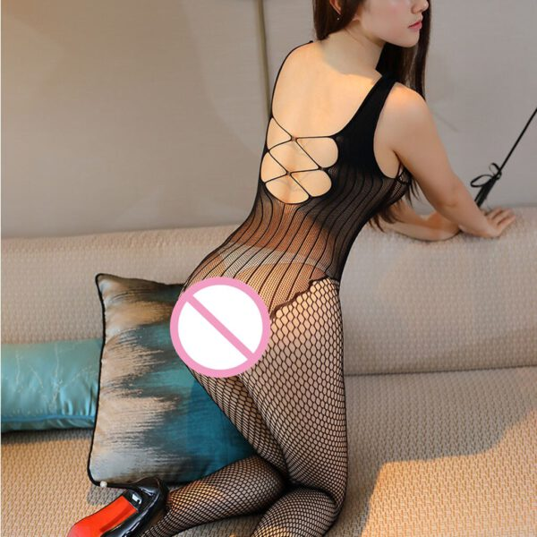 Hot Alluring Sexy Lingerie Fishnet Open Crotch Porno Body Stocking Exotica Bodysuit Nightwear Erotic Sexy Clothes For Women D3