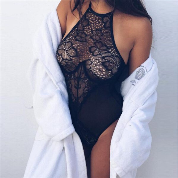 Summer Women Sexy Lingeries Stretch Bodysuits Lingerie Bodysuit Lace Underwear Black Babydoll Sleepwear