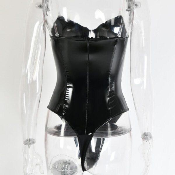 Sexy Leather New Jumpsuit Bodysuit Teddy Underwear Sleepwear Lingerie Underwear plus size lenceria sexi para mujer #@