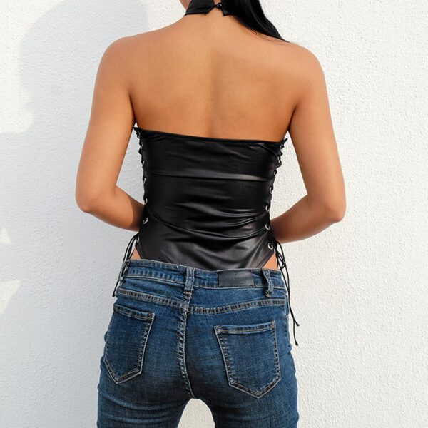 Women bodystocking Sexy crotchless Rivet One-piece Blackless Bodysuit Jumpsuit Teddy Lingerie Underwear body encaje mujer