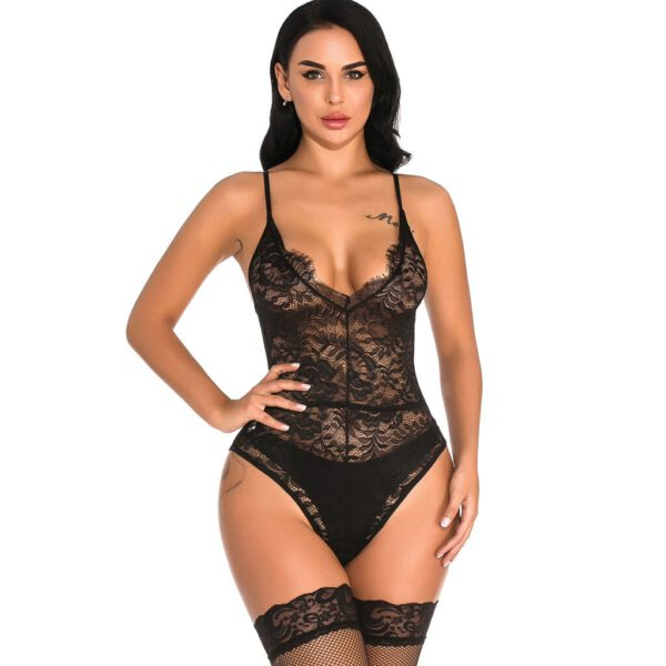 hot sexy costumes sexy underwear sex product lingerie sleepwear Teddies Catsuit Crotchless Chemises Nightgown Negligees+stocking