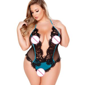 Hot Erotic Lace Lingerie for Women Sexy Underwear Porn Babydoll Dress Open Bra Crotch Sexy Lingerie Teddy Costume Plus Size