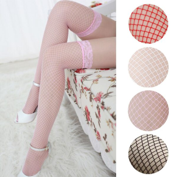 Women's Black Erotic Sexy Stockings Nylon Fishnet Thigh Stockings For Sex Underwear For Women Sexy Lingerie For Women