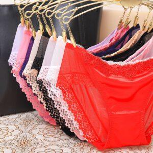 Women's Sexy Lingerie Lace Open Thong Panties G-Pants Lingerie Pajamas