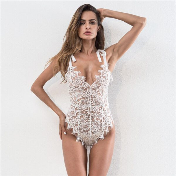 Liva Girl 4 Colors Women Sexy Lingerie Nightwear Underwear Lace G String Sling Sleepwear Teddies Bodysuits