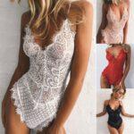 Women-Sexy-Solid-Lace-Skinny-Lady-Lingerie-Lace-Dress-Bodysuits-Underwear-Nightwear-Sleepwear-Bodysuit-Summer-Beach-Skinny