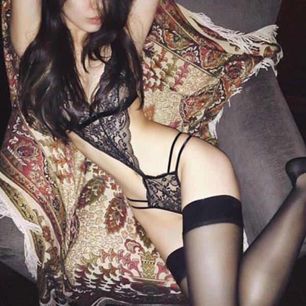2019 Hot Sexy Erotic Costumes Lingerie Backless Lace Dress Babydoll Women's Underwear Nightwear Sleepwear Porno Teddy LangerieFD