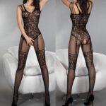 Sexy-Lingerie-Jumpsuit-Mesh-Stockings-See-Through-Women-Nightclub-Clothing-Women-Bodysuit