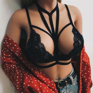 Women's Sexy Simple Style hot Lace Brassiere Crop Tops lady Bras Beacn Wear Brallete Top biustonosz ropa sexy sujetador FDH