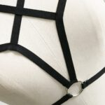 Sexy-Women-Girl-Appliques-Hollow-Out-Elastic-Cage-Bra-Bandage-Strappy-Halter-Bra